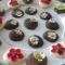 chocolaatjes met eetbare bloemen