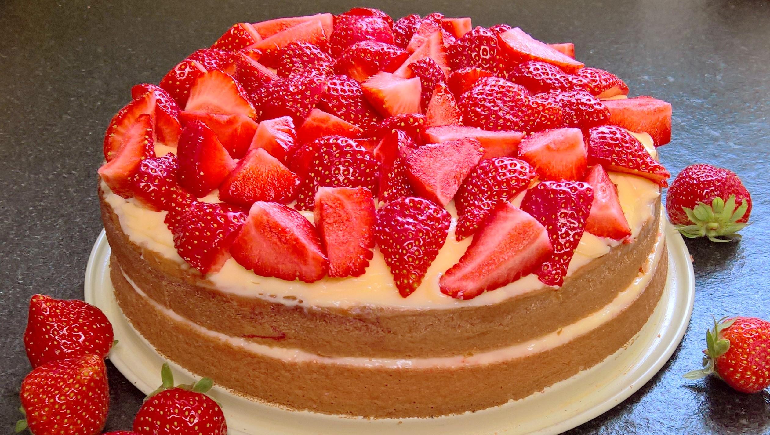Beste Recept: Simpele aardbeientaart (gistvrij, lactosevrije bodem ZG-57