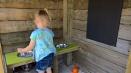 modderkeuken met schoolbord